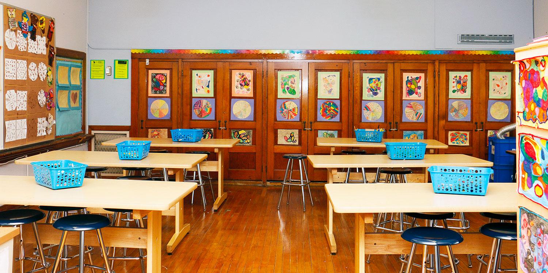 Montgomery Prep art classroom.